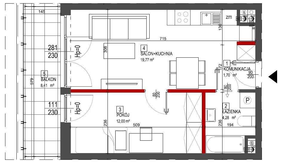 Rzut mieszkania