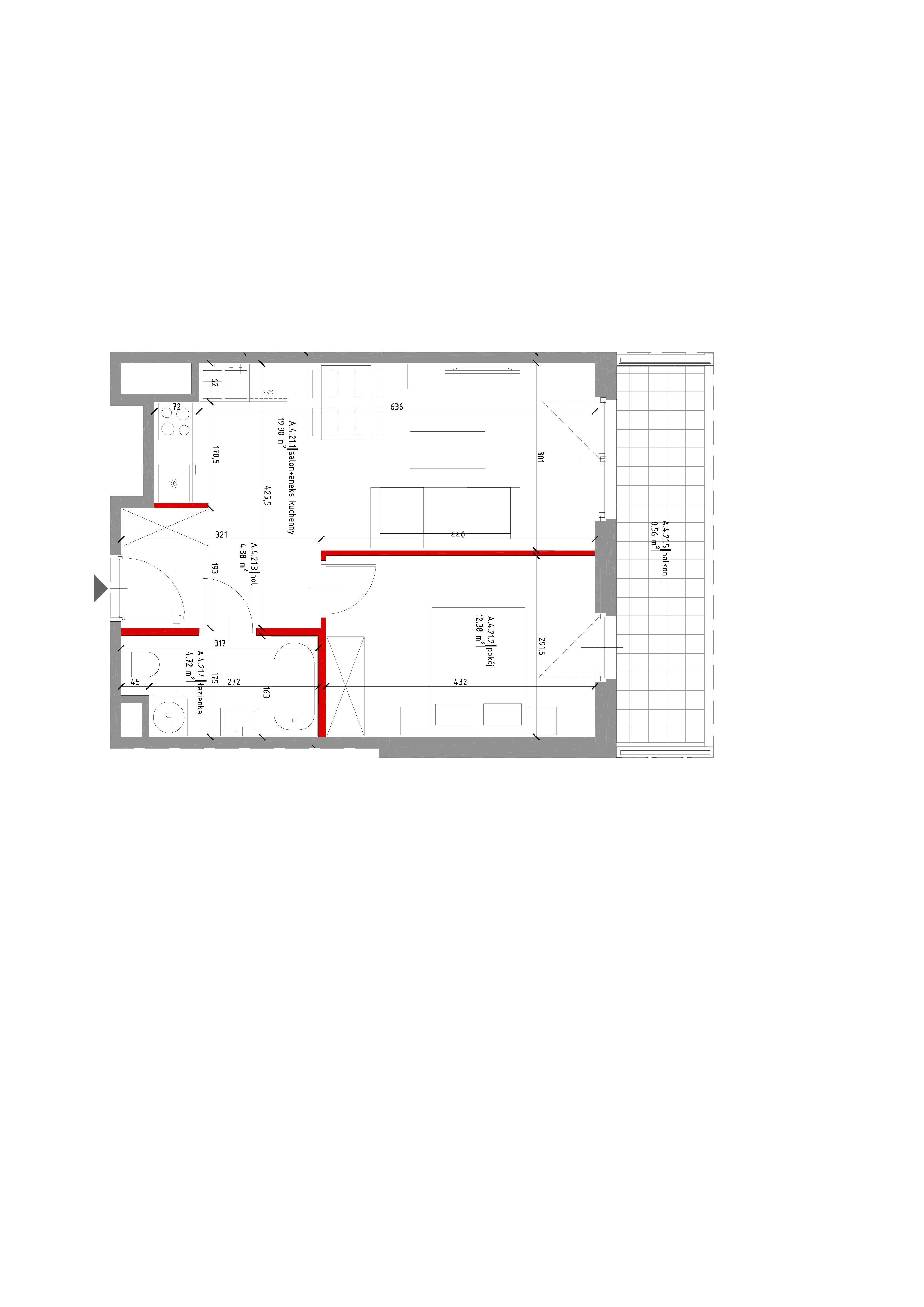 rzut mieszkania niska30